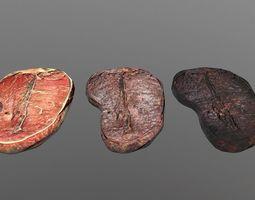 Steak 3D model VR / AR ready