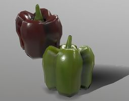 3D asset Bell Peppers