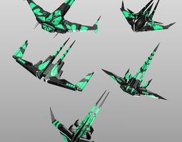 3D asset Alien Spaceship Set