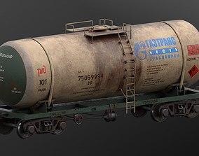 3D model vagon-tank lowpoly 4k textures