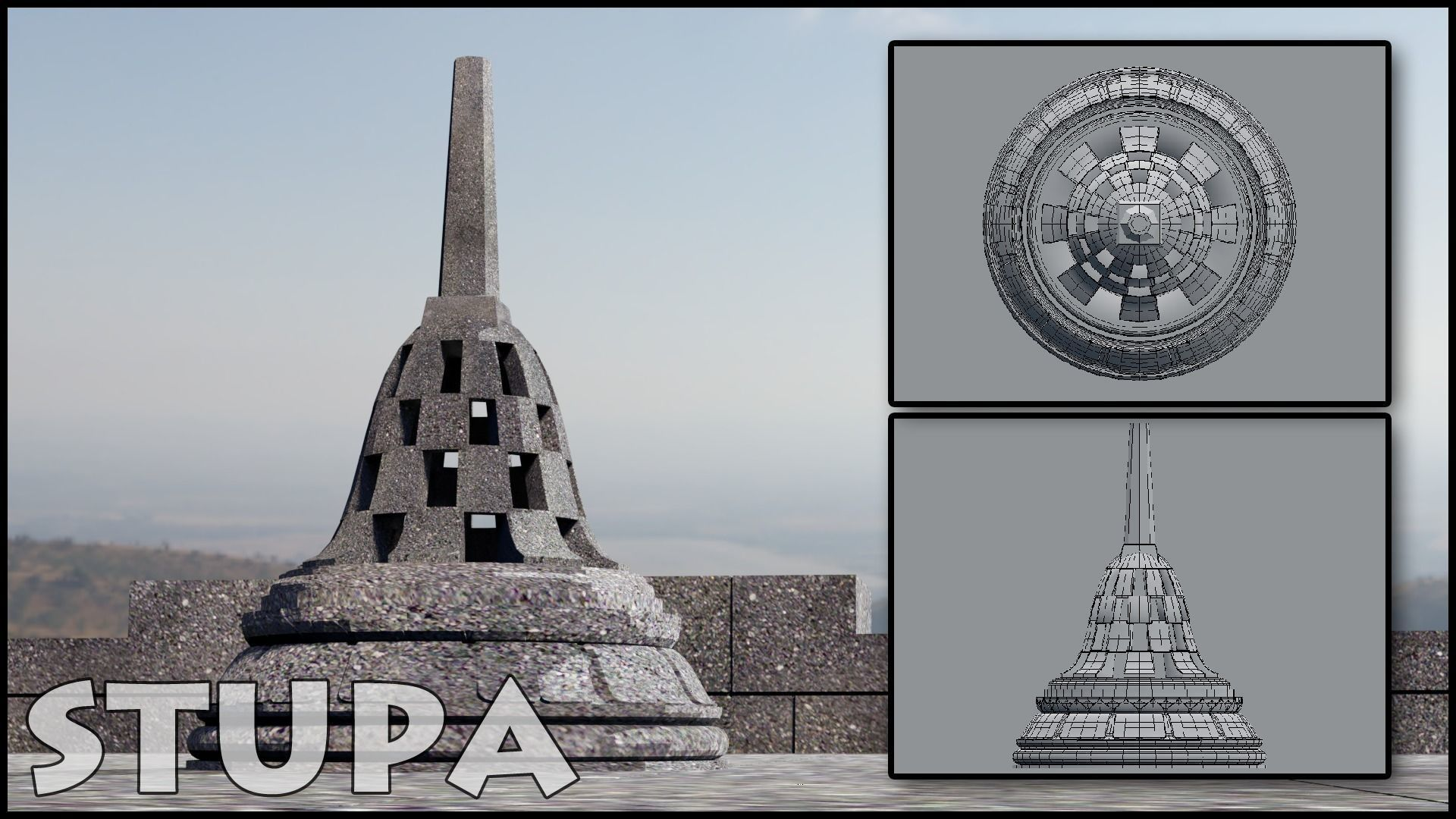 Buddhist Stupa | 3D model