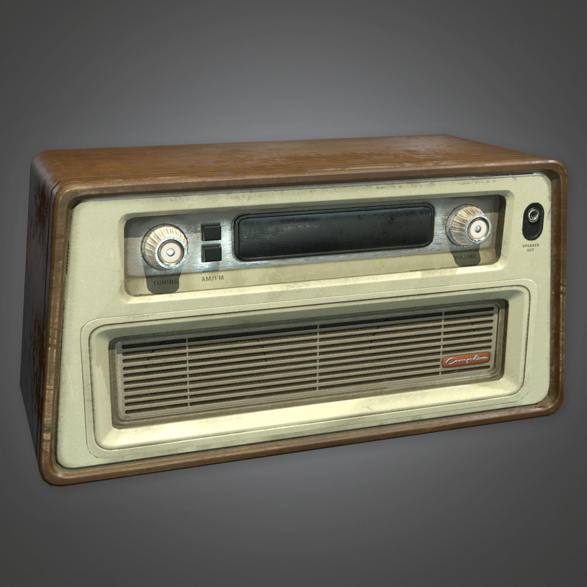 ATT - Old Radio Antiques 02 -  PBR Game Ready