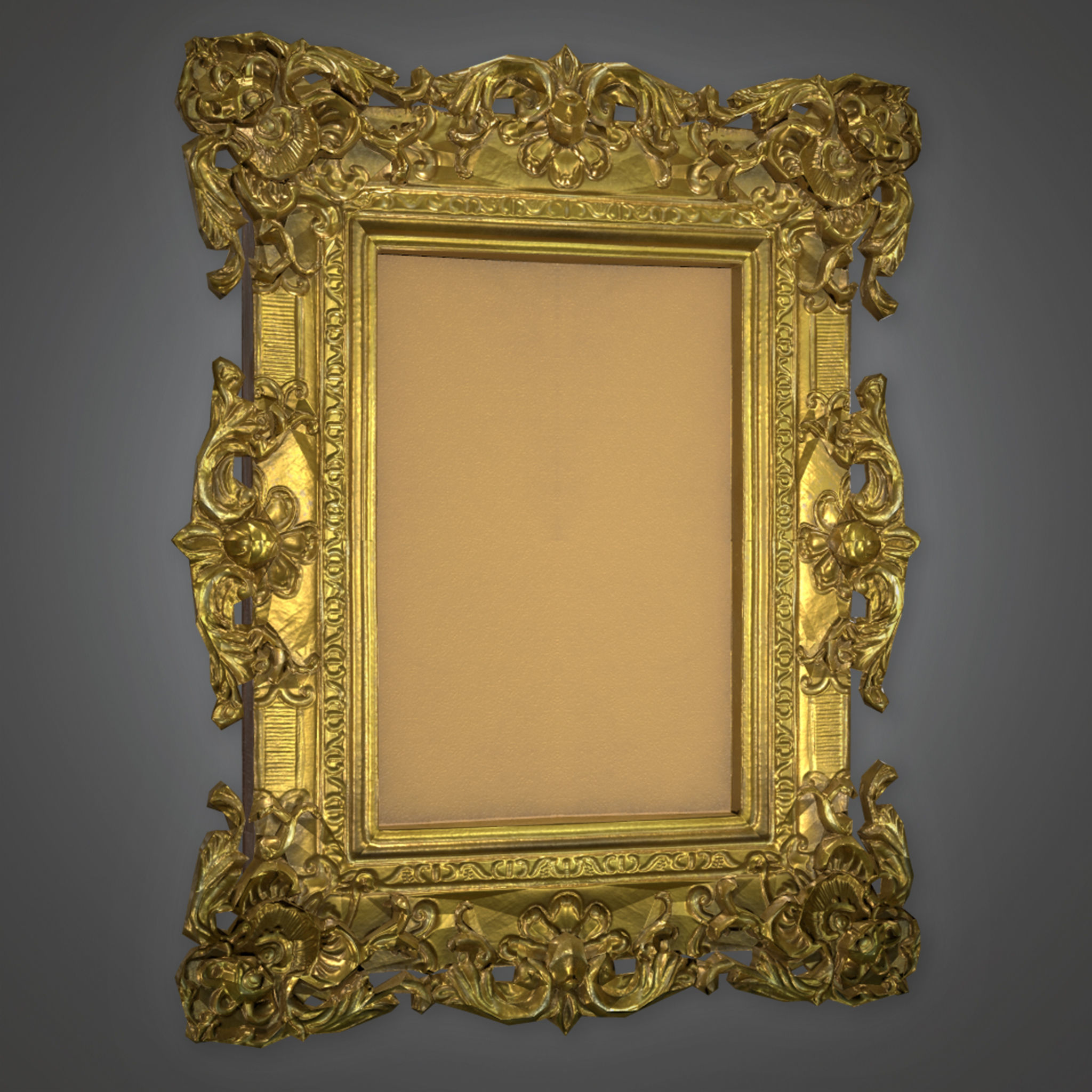 ATT - Fancy Picture Frame Antiques - PBR Game Ready