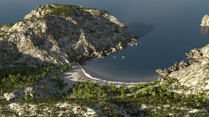 sandy bay in blender 3d model blend pdf 1
