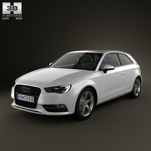3D Audi A3 Hatchback 3-door 2013