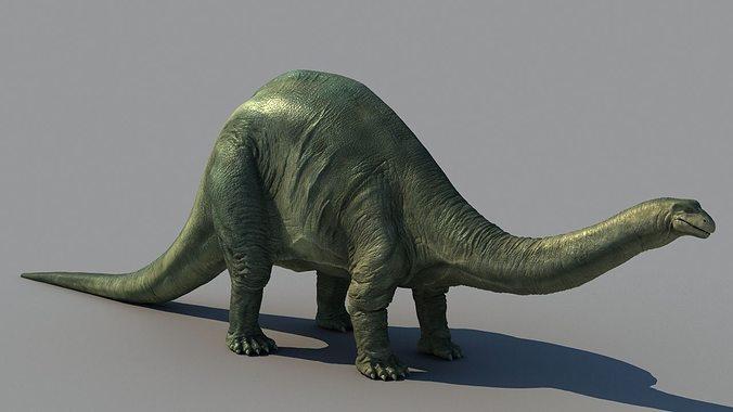 brontosaurus 3d model max fbx 1