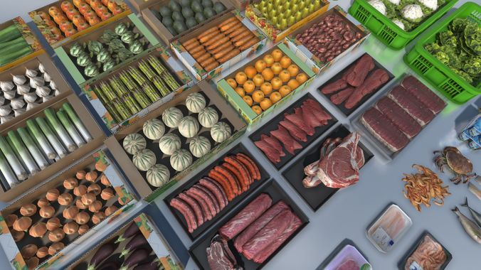 fresh products with lod 3d model low-poly fbx tga unitypackage prefab mat 1