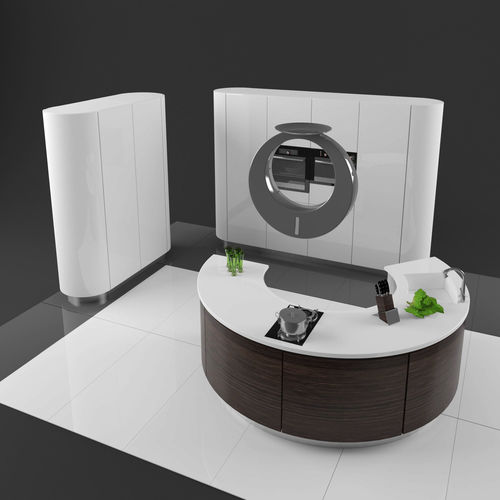 round modern kitchen 3d model max obj mtl 1