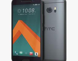htc 10 carbon gray 3d model
