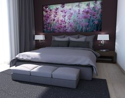 bed room 3 3d model