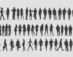 3d people silhouettes realtime
