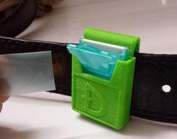 3d printable model listerine belt gear - dogecoin style