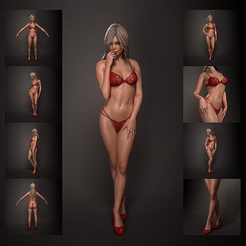 woman 3d model max obj mtl 3ds fbx stl ztl 1