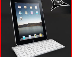 Apple Ipad plus Dock 3D model