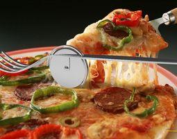 Fork for pizza 3D model