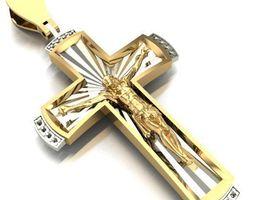 pendants jewelry cross 3D print model CROSS