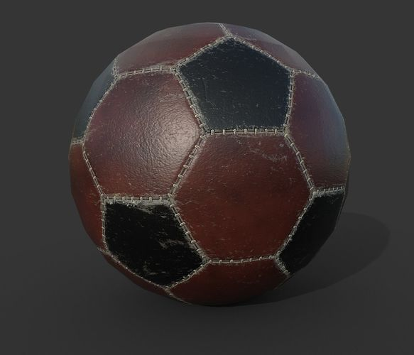 soccer ball pbr low poly 3d model low-poly max obj mtl 3ds fbx 1
