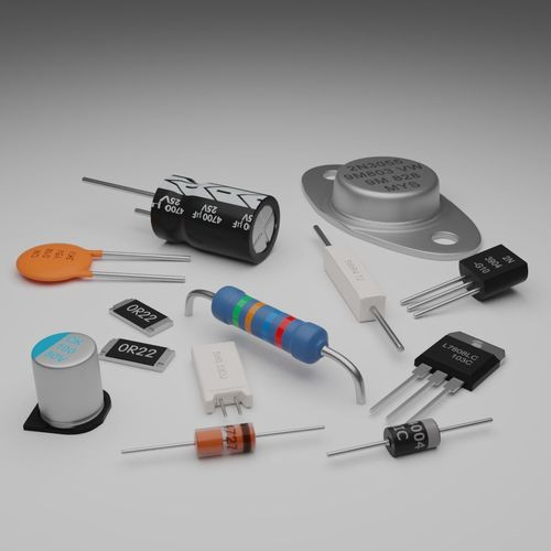 3d Basic Electronic Components Pack