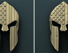 American helmet 3d stl model for cnc