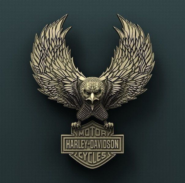 Harley Davidson 3d stl model for cnc