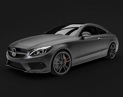 german 3D model Mercedes Benz C Class Coupe C 205