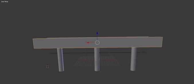 3d train bridge 3d model obj mtl 3ds stl 1