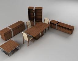Living Room Furniture set 02 3D model