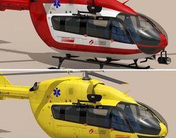 ec145 air ambulance 3d model obj 3ds fbx c4d dxf dae