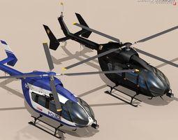 ec145 law enforcement 3d model obj 3ds fbx c4d dxf dae
