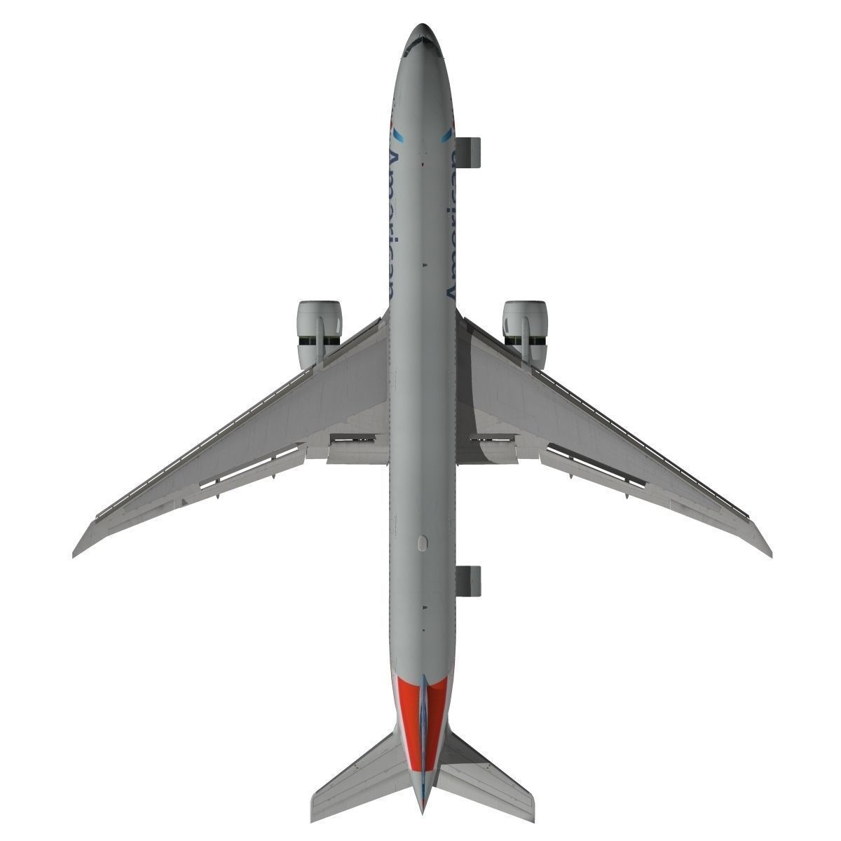 Boeing 777 300er American Airlines 3d Model Animated