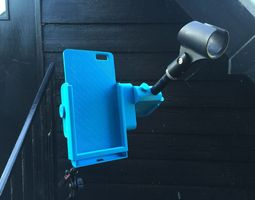 3d printable model snap-clip iphone 6 plus microphone stand mount