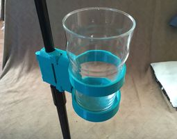 3d print model snap-clip microphone stand drinks mount