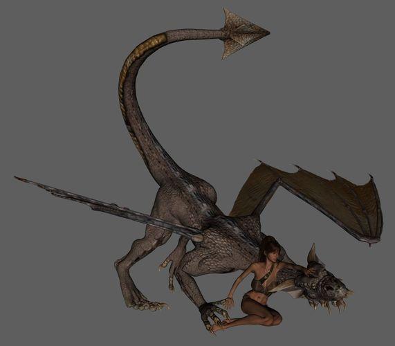 dragon 3d model obj mtl stl 1