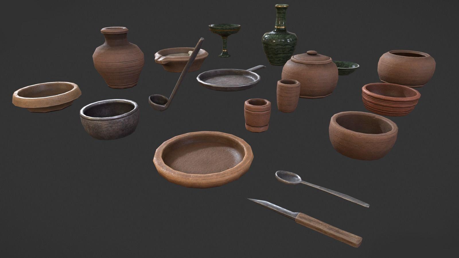 PBR Medieval tableware
