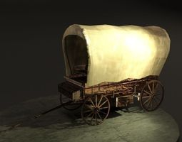 Old Wagon 3D model