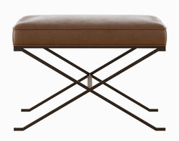 Haven X Leather Bench 3D model