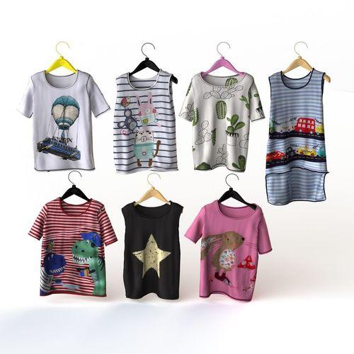 479b7d0f2 T shirt for a boy and gorl kids baby garments 3D