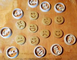 3D print model Emoticons Cookie Cutters Set