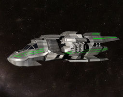 rescue spacecraft 3d model