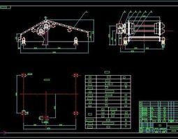QZK2041 dewatering vibrating screen CAD drawing 3D