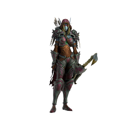 warcraft sylvanas windrunner animated and rigged 3d model low-poly rigged animated ma mb 1