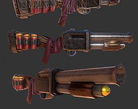 3D model Shotgun Stylized Weapon
