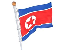 North Korean Flag animated 3D