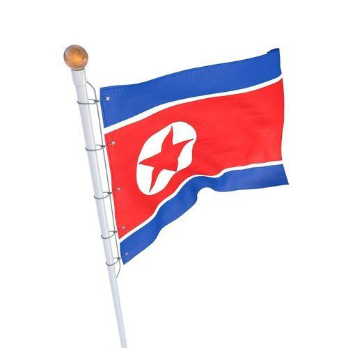 north korean flag animated 3d cgtrader