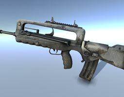 Famas 3D model realtime