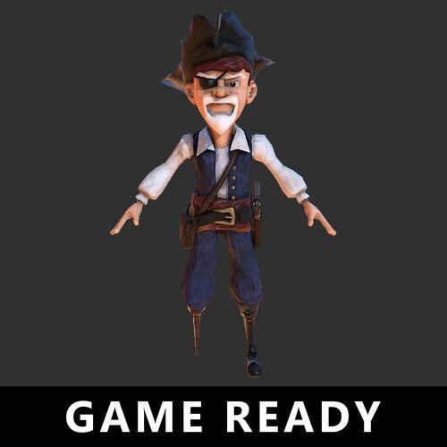 e86568d71e3 pirate character cartoon stylized 3d model low-poly obj mtl fbx tga 1 ...