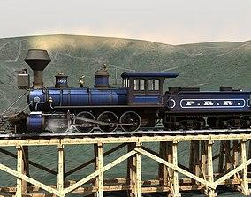 PRR 2-8-0 Steam Locomotive and Tender - STATIC MODELS 3D