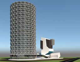 3D architecture Business Center