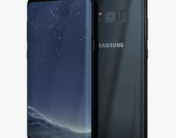 3D model Samsung Galaxy S8 Plus Midnight Black