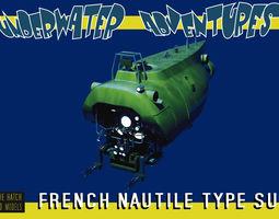 3D Nautile type french sub
